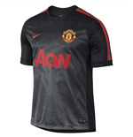 2014-15 Man Utd Nike Pre-Match Training Shirt (Black-Red)