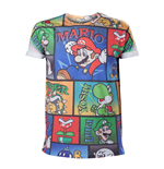 NINTENDO Super Mario Bros. All-Over Mario and Co Small T-Shirt