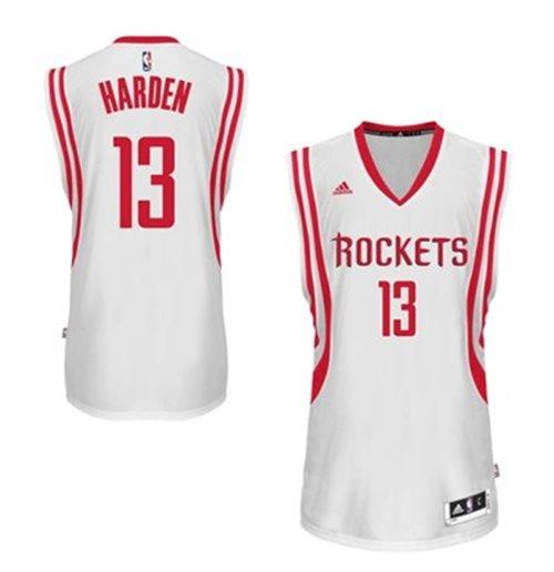 Mens Houston Rockets James Harden Adidas White New