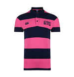 England RWC 2015 Hoop Stripe Polo Shirt (Navy)
