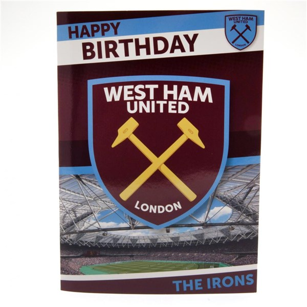 West Ham United F.C. Musical Birthday Card