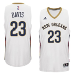 Mens New Orleans Pelicans Anthony Davis adidas White New Swingman Home Jersey