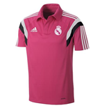 2014-2015 Real Madrid Adidas CL Polo Shirt (Pink)
