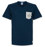 2014-2015 Real Madrid Adidas SF Casual Tee (Navy)