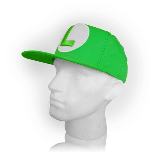 bc0ef54c8 ... Green NINTENDO Super Mario Bros. Luigi Symbol Snapback Baseball Cap,  Green ...