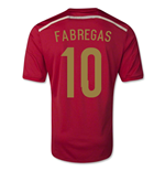 2014-15 Spain World Cup Home Shirt (Fabregas 10)