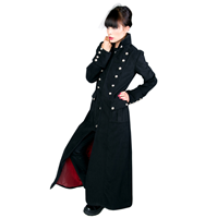Aderlass Ladys Corsair Long Coat Wool