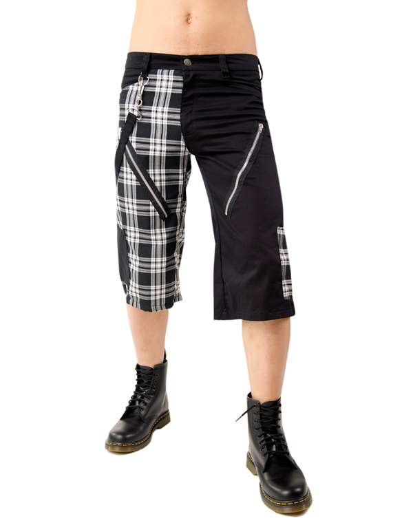 Black Pistol Zip Short Pants Tartan