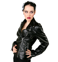 Black Pistol Biker Lady Jacket Sky