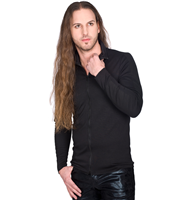 Black Pistol Collar Cardy Sweat