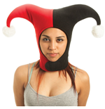 DC COMICS Batman Harley Quinn Jester Hat, Black/Red