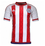 2015-2016 Paraguay Home Adidas Football Shirt