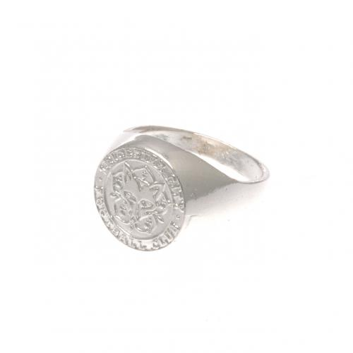 Leicester City F.C. Silver Plated Crest Ring Small