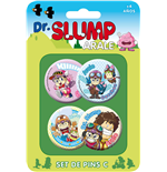 Dr. Slump Pin Badges 4-Pack Set C
