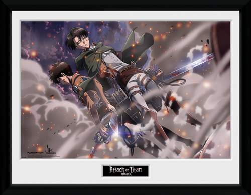 Attack On Titan Smoke Blast Framed Collector Print