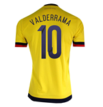 2015-2016 Colombia Adidas Home Shirt (Valderrama 10)