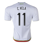 2015-2016 Mexico Adidas Away Shirt (C.Vela 11)