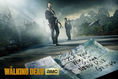 The Walking Dead Rick And Daryl Road Maxi Poster