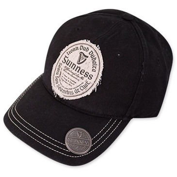 GUINNESS Gaelic Label Black Bottle Opener Hat