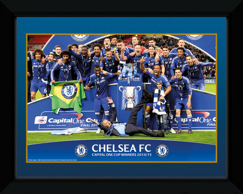 Chelsea Cup Winners Trophy Framed Collector Print