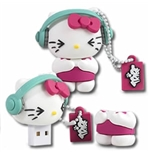 "Hello Kitty Memory Stick - Hello Kitty ""DJ"" 8GB"