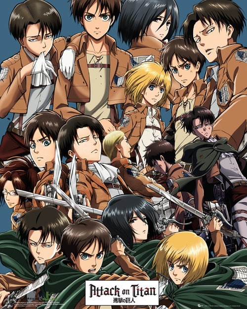 Attack On Titan Collage Mini Poster