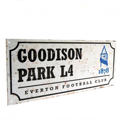 Everton F.C. Retro Street Sign