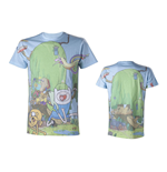 ADVENTURE TIME Finn & Jake's Treehouse Sublimation Print T-Shirt, Medium
