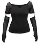 Gothic Rock - Mesh Glove Long Sleeve Top