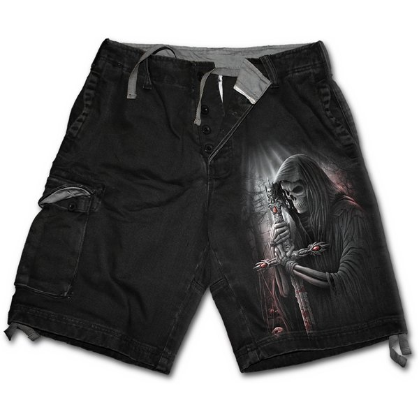 Soul Searcher - Vintage Cargo Shorts Black