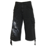 Nightfall - Vintage Cargo Shorts 3/4 Long Black