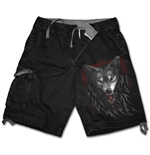 Legend Of The Wolves - Vintage Cargo Shorts Black