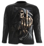 Bone Finger - Longsleeve T-Shirt Black