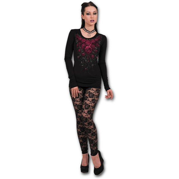 Blood Rose - Baggy Top Black