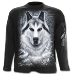 White Wolf - Longsleeve T-Shirt Black
