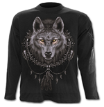 Wolf Dreams - Longsleeve T-Shirt Black