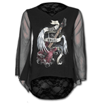 Rock Angel - Lace Back Goth Top Black