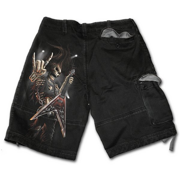 Rock Salute - Vintage Cargo Shorts Black