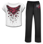 Blood Rose - 4pc Gothic Pyjama Set