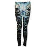 Flaming Spine - Allover Comfy Fit Leggings Black
