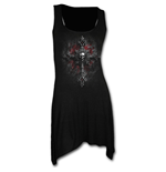 Vamp Fangs - Goth Bottom Camisole Dress Black