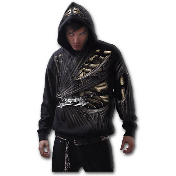 Bone Slasher - Allover Hoody Black