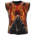 Flaming Death - Allover Sleeveless T-Shirt Black