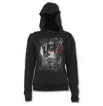 Sugar Doll - Street Ribbed Large Hood Hoodie  Black