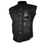 Death Rage - Sleeveless Stone Washed Worker Black