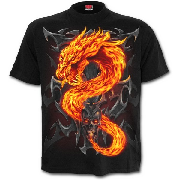 Fire Dragon - T-Shirt Black