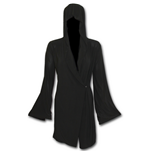 Gothic Elegance - Gothic Hooded Robe Wrap Black