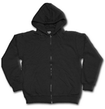 Metal Streetwear - Full Zip Hoody Black