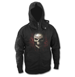Game Over - High Zip Poppers Hoody Black