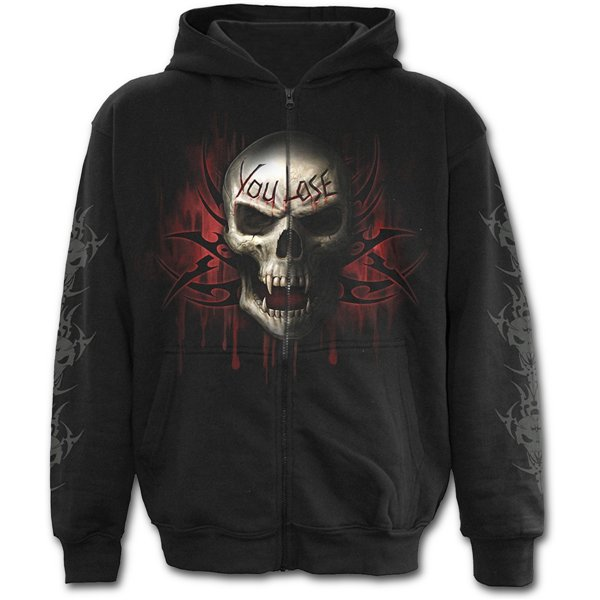 Game Over - Full Zip Hoody Black